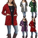 Coat for Womens, FORUU Long Sleeve Pockets Tops Blouse Loose Long Cardigan Jacket Outwear