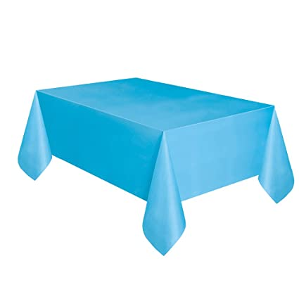 Light Blue Plastic Tablecloth, 108u0026quot; ...