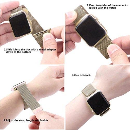 GEOTEL Apple Watch Accessories Milanese Loop Stainless