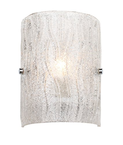 Varaluz AC1101 Brilliance 1-Light Bath Light - Chrome Finish with Bright Ice Glass by Varaluz