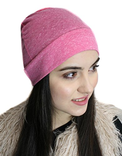 Premium Soft Comfy Sleep and Chemo Cap, Hat Liner Pink Petite - Cotton Petite Hat