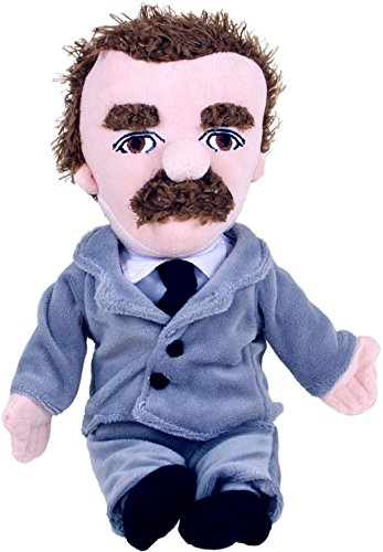 The Unemployed Philosophers Guild Friedrich Nietzsche Little Thinker - 11 Plush Doll for Kids and Adults