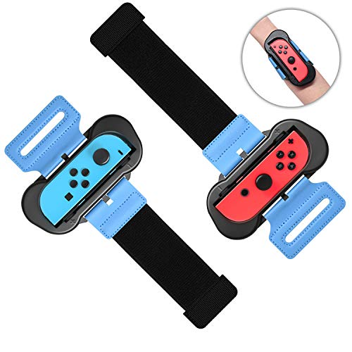 Wrist Bands for Nintendo Switch Controller Game Just Dance 2019, Adjustable Elastic Strap for Joy-Cons Controller, Two Size for Adults and Children, 2 Pack
