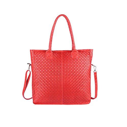 Bolso Obc beautiful Mujer Tela Para 36x40x12 Burdeos Only Cm couture Ca De bxhxt Rojo qwwx5ntZr