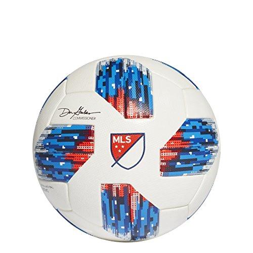 adidas 18mls OMB balón de fútbol 5, color blanco/azul