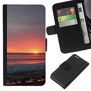 KingStore / Leather Etui en cuir / Apple Iphone 5C / Ciel