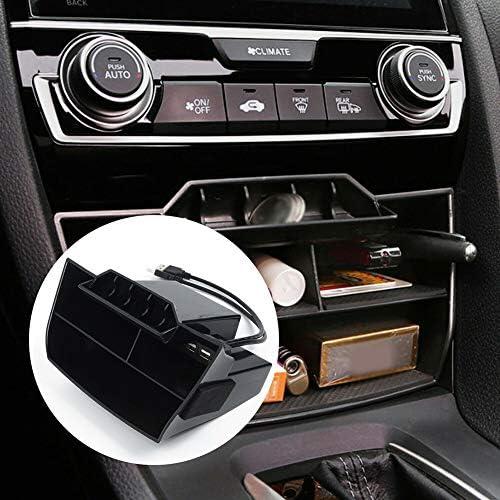 Semine Auto ABS innerer Konsolen-zentraler Aufbewahrungsbehälter USB-Hafen für Honda Civic 2016-2019