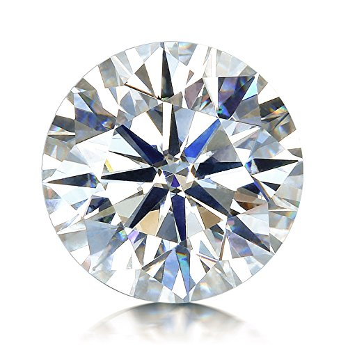 VAN RORSI&MO GH Colorless Simulated Diamond Moissanite Loose Stone, Excellent Cut Round Brilliant VVS Clarity(0.5CT) by VAN RORSI&MO