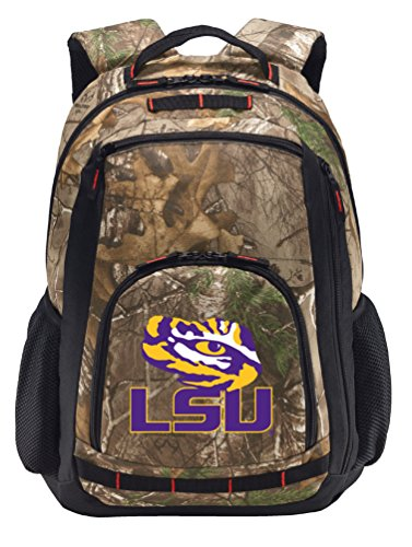 Broad Bay LSU Camo Backpack Realtree LSU Backpacks - Laptop Section!