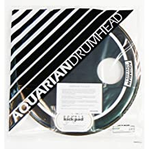 Aquarian Drumheads SKP20BK Super-Kick 1 Prepack 20-inch Bass Drum Head, gloss black