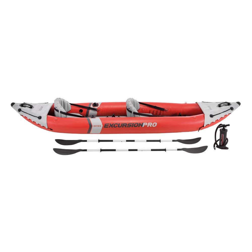 Intex 68309NP - Kayak hinchable K2 Excursion Pro con 2 remos e hinchador