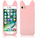 Cover iPhone 5/5S, elecfan® 3D Cartoon Lovely Cat Soft Gel Cover Shockproof Silicone Protective Case For Apple iPhone 5/5S Devices – Pink