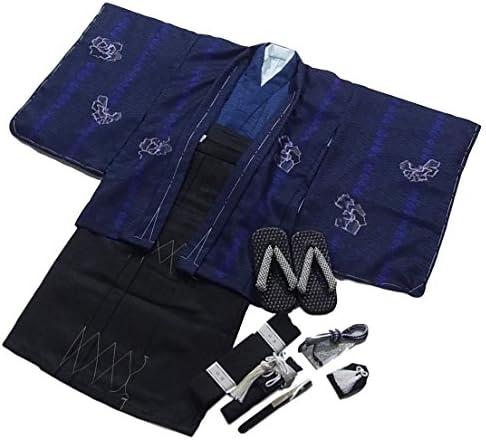 七五三着物 Shikibu Classic 5歳 男の子 10点セット 黒 ポリエステル