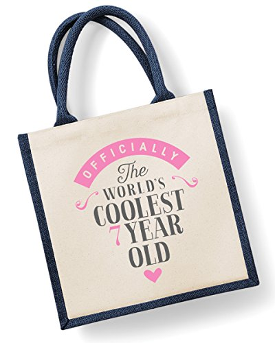 Seven 30cm Birthday 7th 19cm x Bag Girl x Year Birthday 30cm Gift Medium Seventh Navy Old Bag Pink F1wY1qC
