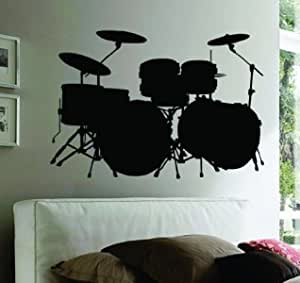 2487ig Vinyl Wall Decal Drum Installation Drummer Musician Music Band Stickers