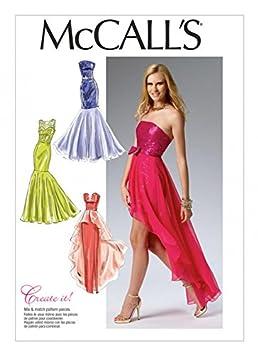 McCalls Mesdames 6838 occasion spéciale Patron de Couture Robe de Soirée +  sans Minerva Crafts Craft