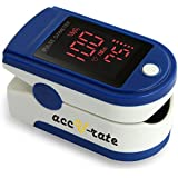 Acc U Rate® Pro Series CMS 500DL Fingertip Pulse Oximeter Blood Oxygen Saturation Monitor with silicon cover, batteries and lanyard