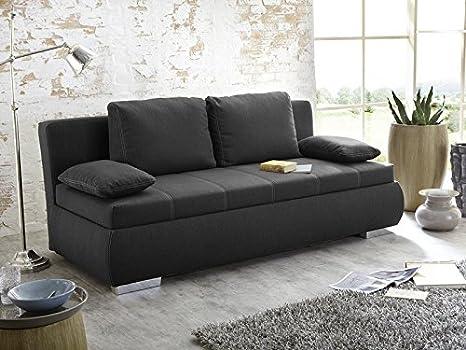 Útil Schläfer Dormir sofá Merlin 210 x 112 cm oscuro, cama ...