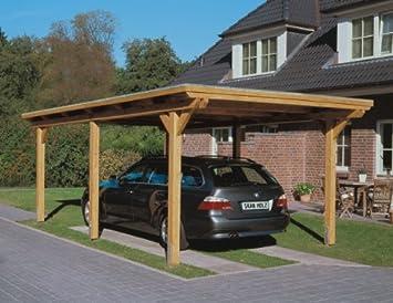 Skan Carport Laminated Wood Flat Roof 354 X 604 Cm Amazon