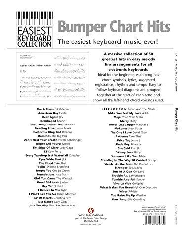Easiest Keyboard Collection Bumper Chart Hits Sheet Music Amazon