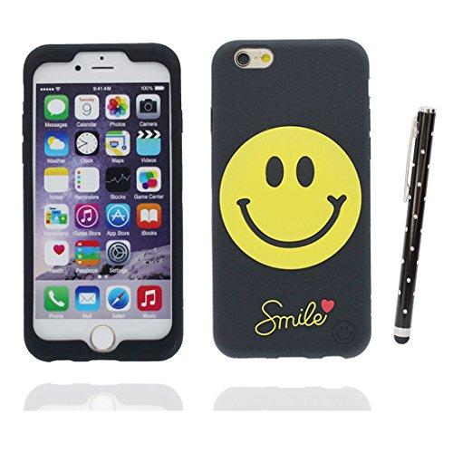 """iPhone 6 Plus Coque, étui iPhone 6s Plus Cover 5.5"""", [ TPU durable flexible 3D Smiley ] iPhone 6 Plus Case (5.5 pouces), Gold Egg anti-chocs, des empreintes digitales et stylet"""