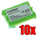 Floureon 10x Ni-mh Cordless Phone Batteries for Atandt 1231 2231 2419 2420 E1215 E1225, Office Central