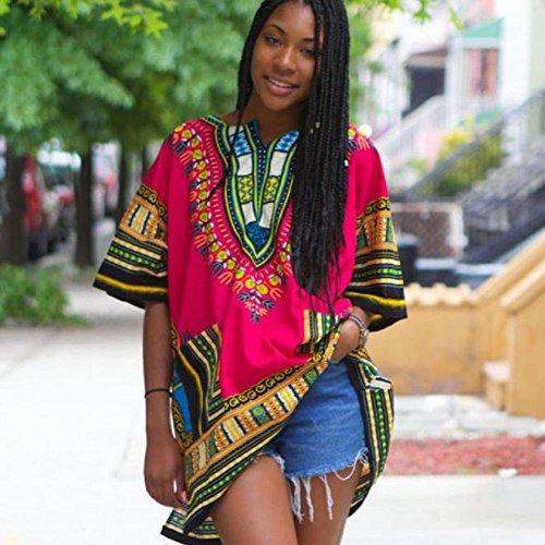 FEITONG Mode féminine africaine Imprimer Décontracté droite Imprimer Mini robes