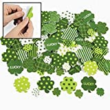 """100 ~ Shamrock Foam Stickers / Self-adhesive Shapes ~ Approx. 1"""" - 2"""" ~ New ~ St. Patrick's Day"""