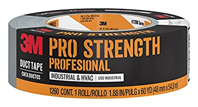 3M Pro Strength Duct Tape, 1260-A, 1.88 Inches by 60 Yards by 3M
