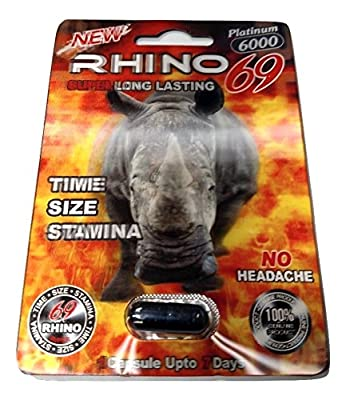 Rhino 69 Platinum 6000 All Natural Male Enhancement - Time Size Stamina (5)