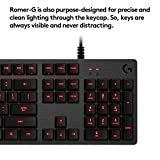 Logitech G413 Backlit Mechanical Gaming Keyboard with USB Passthrough – Carbon