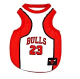 NBA Basketball Shirt for Large/Small Dogs Jersey Sport Outfit Bulls M