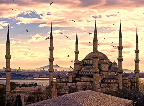 - Adult Jigsaw Puzzle Sunset View Sultan Ahmet Mosque Istanbul Turkey 500-Pieces