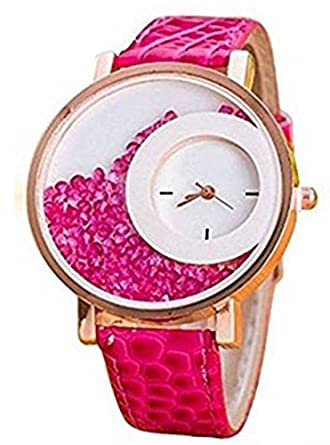 leather s dp girls pattern cute women novel amazon butterfly watches shell beautiful pink for fine com watch dial
