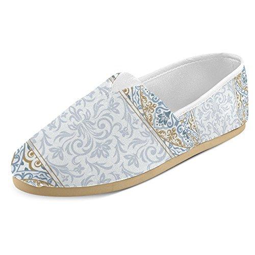 Mocassini Da Donna Di Interestprint Classico Su Tela Casual Slip On Fashion Shoes Sneakers Flat Multi 28