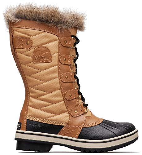 Sorel - Women's Tofino II Waterproof Insulated Winter Boot with Faux Fur Cuff, Curry/Fawn, 11 M US (Best Curry In Chicago)
