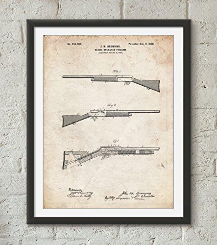 Browning Auto 5 Shotgun 1900 Patent Poster