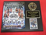 Seattle Seahawks Super Bowl XLVIII Champions Collectors Clock Plaque w/8x10 Team Photo and Card