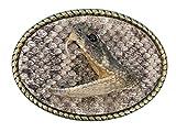 Real Rattlesnake Belt Buckle:1 Head in Oval