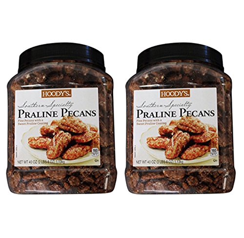 Hoody's Southern Specialty Praline Pecans (pack of 2 - 40 oz (Southern Praline)