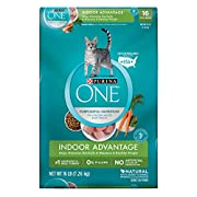 Purina ONE Indoor Advantage adult dry cat food makes the nutritional needs of your feline a top priority so she can reach her optimal health, both inside and out. As a carnivore, your cat naturally craves protein, and the 42 grams found in each cup o...