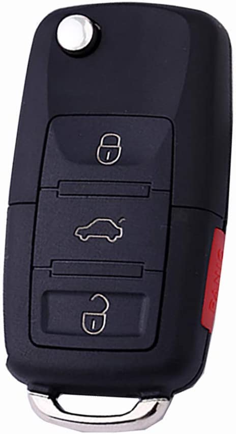 KEMANI Uncut blade Flip Remote Key Case For VW Volkswagen Jetta beetle 4 Buttons Keyless Fob Case No Chips Inside