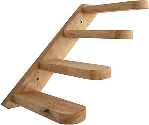 EMVANV - Escalera para Gatos, Escalera de Pared para Escalada, Ventana, Regalo para Mascotas, casa de Madera Maciza, Estable, Escalera, Escalera, fácil de Instalar: Amazon.es: Productos para mascotas