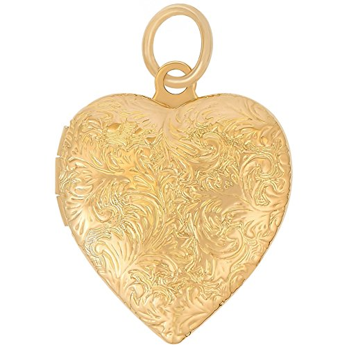 Lifetime Jewelry Heart Locket Necklace, Antique, 24K Gold Over Semi Precious Metals, Guaranteed for Life (Choice of Pendant with or Without Chain) (Gold Locket Only) ()