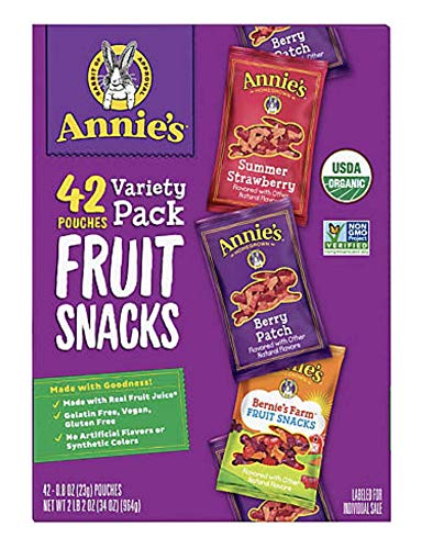Annie's Organic Fruit Snacks Variety Pack 42 Count