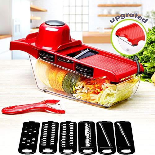 YJMH Mandoline Vegetable Slicer With 6 Blades