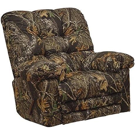 Catnapper Magnum Chaise Rocker Recliner Chair In Mossy Oak