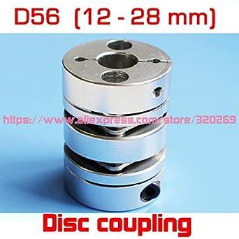 Fevas 2pcs Motor Double Disk Shaft Coupling 12mm, 14mm, 15mm