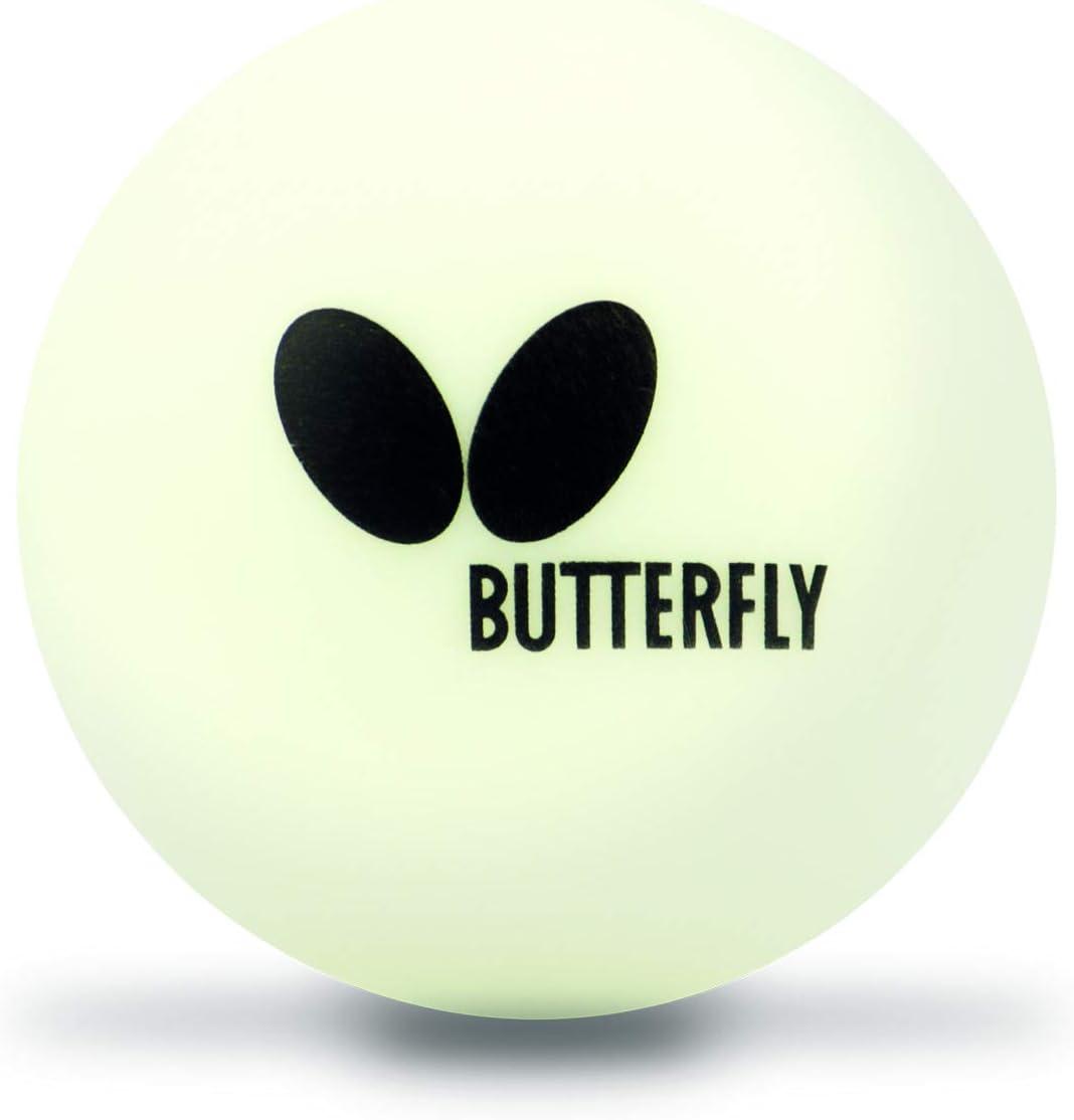 Butterfly 40mm Easy Ball (6PK) Pelotas de Tenis de Mesa, Blanco, Paquete de 6