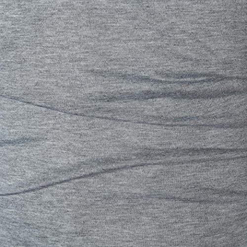 Camiseta V Gris Para Momola Deportiva Cuello Hombre Blouse En Larga Manga men YPqPEf